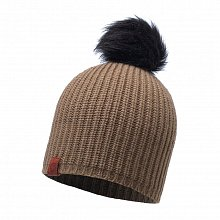 Шапка BUFF KNITTED HAT ADALWOLF BROWN TAUPE