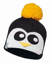 Шапка BUFF CHILD KNITTED & POLAR HAT BUFF PENGUIN BLACK-BLACK-Standard/OD